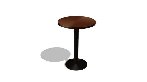 【MMDアクセサリ配布】丸テーブル
