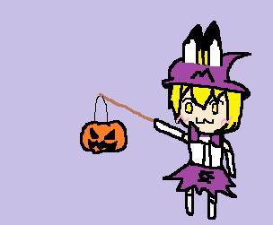 ハロウィンのさーばるちゃん。