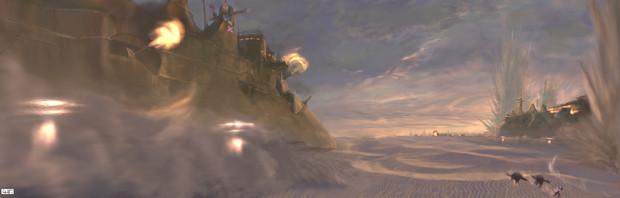 砂漠の艦砲射撃