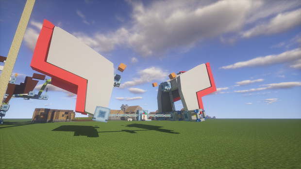 Minecraft」新機体作成中№1「jointblock