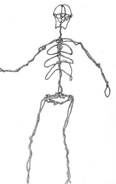 針金でできた人型のモノ