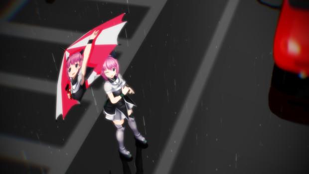 【MMD】(痛)傘のある風景:松本イズミ