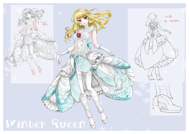 冬の女王のドレス Hiyo知己夕子ちきゆうこ さんのイラスト