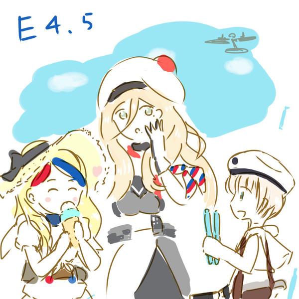 夏の欧州艦