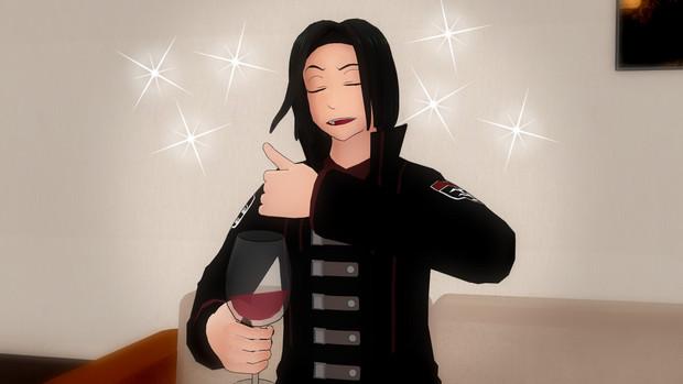 【MMDワートリ】唯我とワイン(ノンアル)