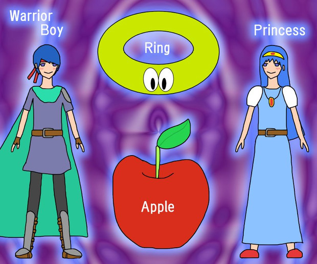 WRAP (Warrior-boy, Ring, Apple, Princess)