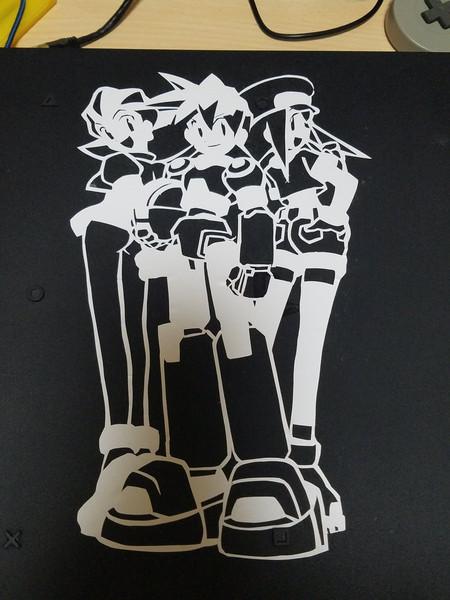 切り絵で今年で20周年のロックマンDASHを作ってみた(カッティングシート