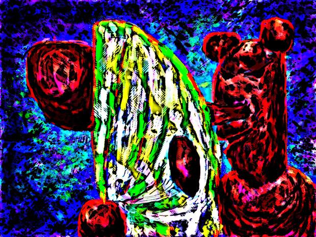 色がついた天狗パンダ555555555555555555555555