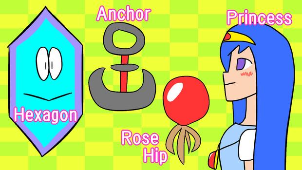 HARP (Hexagon, Anchor, Rose-hip, Princess)