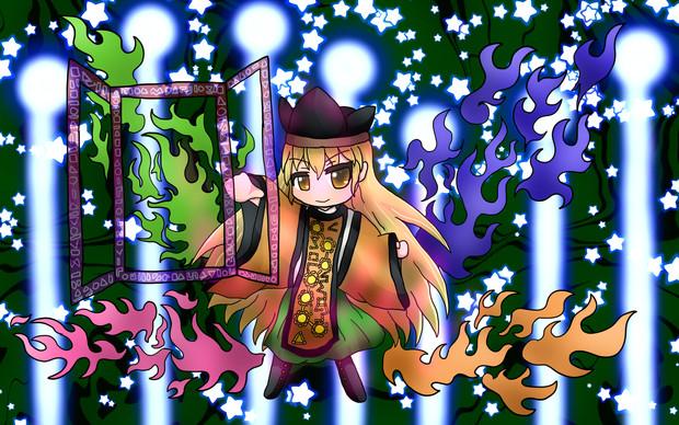 「摩多羅 隠岐奈(真ver2)」サムネ用に描いた絵!
