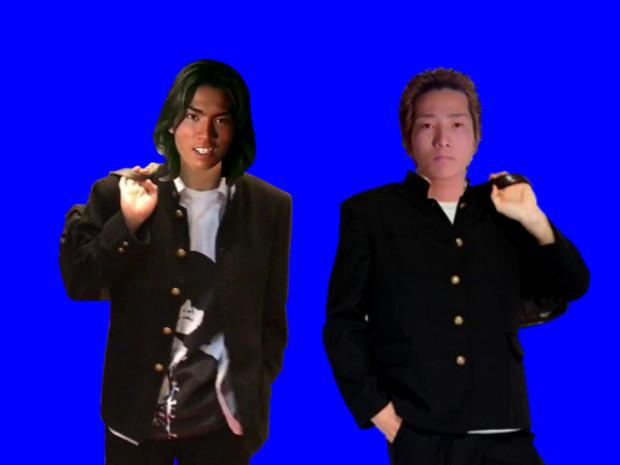 高校時代のGOとマジメ君BB.gakuran
