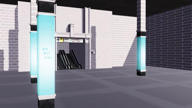 FGO新宿駅【MMDステージ配布】