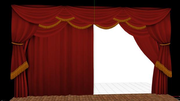緞帳ステージ配布