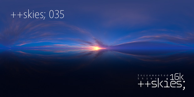[HDR形式あり] ++skies; 035 [16k8k/8k4kスカイドーム素材配布]