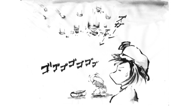 【3-4コマ】隕石迎撃システム(タライ)【第9回東方ニコ童祭Exリレー漫画】