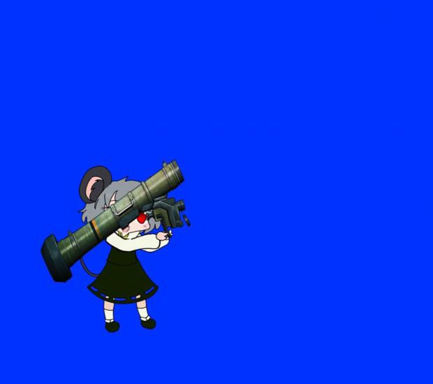 対戦車ミサイルを撃つNYN姉貴BB