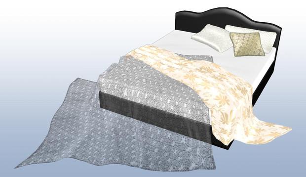 【MMDアクセサリ配布あり】使用済みベッド