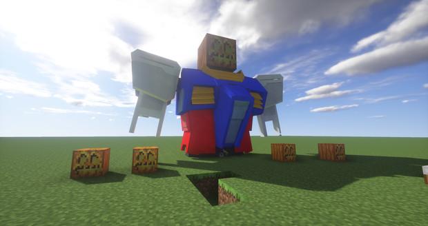 Minecraft」対戦用機体作成中2「jointblock