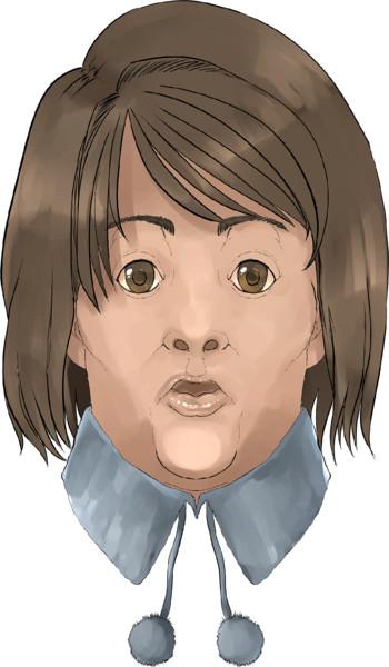 ♣七人の患者/マリコ(柳原麻里子)様♣の写実画