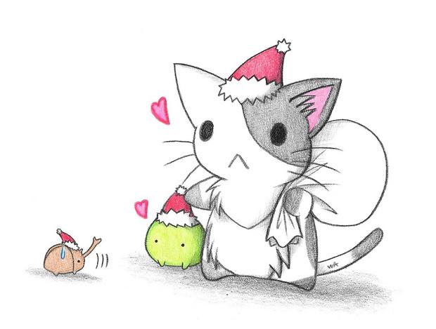 カブトムシのクリスマス わにねこwithくまこ さんのイラスト