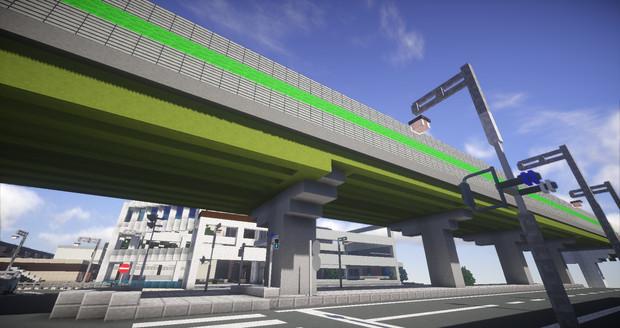 【Minecraft】都市を走る高速道路