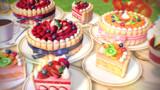 ケーキセット2(シャルロットケーキ)【MMDアクセサリ配布】