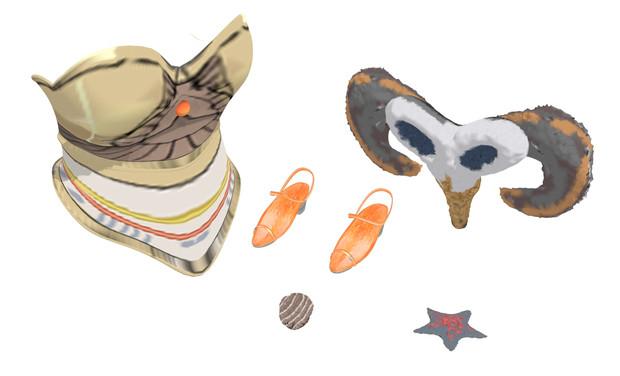 【MMDアクセサリ】衣装用に色々と5種詰め合わせ(3)