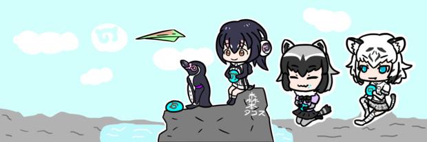 紙飛行機と東武4人組