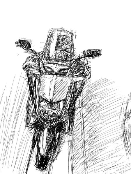 楽描き~バイク~♪