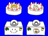ジャガーマンとアルパカマンのキャラケーキ