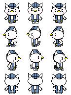 【ツクールmv素材1】猫さんのキャラクターチップ