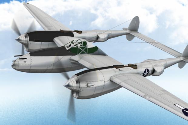 【MMDモデル配布】P-38 Lightning