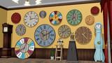 シンプルな壁掛け時計