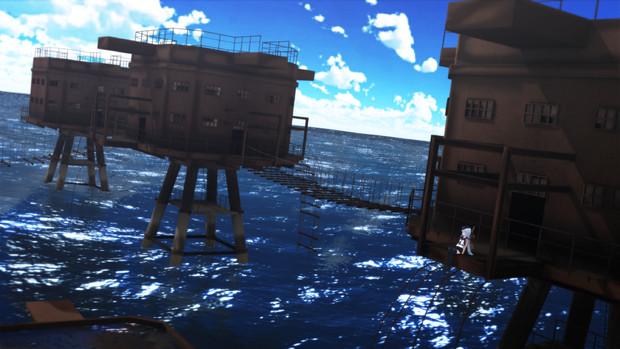 【MMD艦これ】海上基地跡