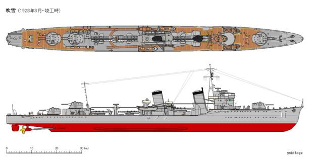 吹雪型駆逐艦 吹雪(1928年8月)...