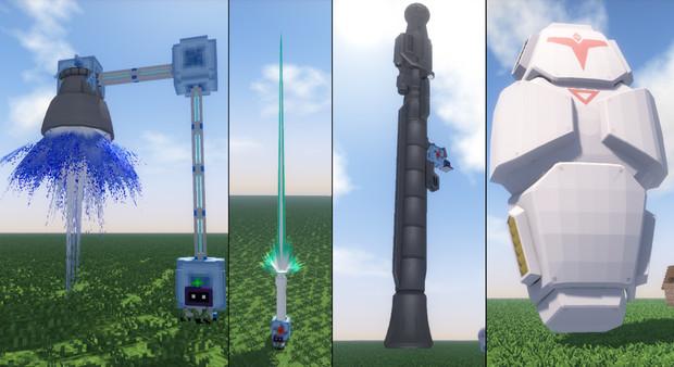 [Minecraft]3Dモデルエフェクト&武器配布[Jointblock]