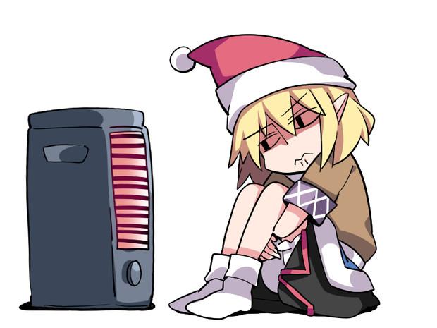 生まれて初めての一人のクリスマスを過ごしている顔
