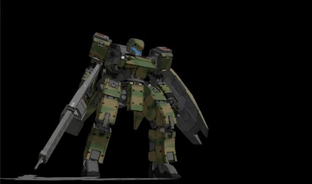 シャムロック用腕部追加ミサイルランチャー