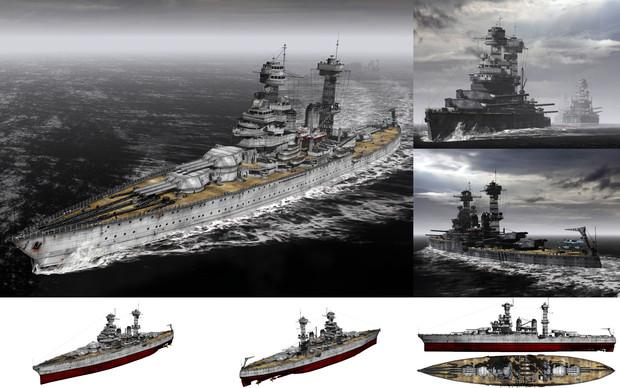 MMD用モブ超弩級戦艦1941(モブフォルニア)セット