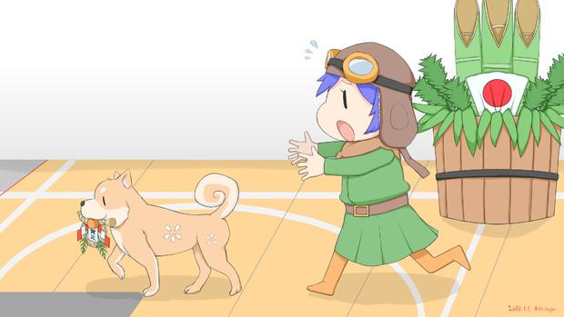九九式艦爆の妖精さんと烈風のわんちゃん