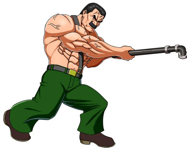 鉄パイプでぶん殴るハガー