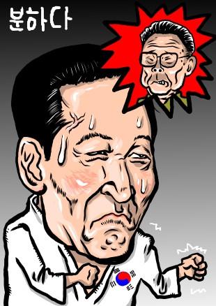 李明博大統領怒り爆発?