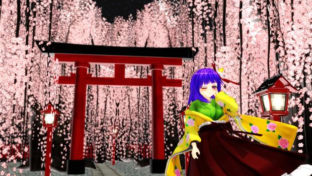 阿求と桜と神社と