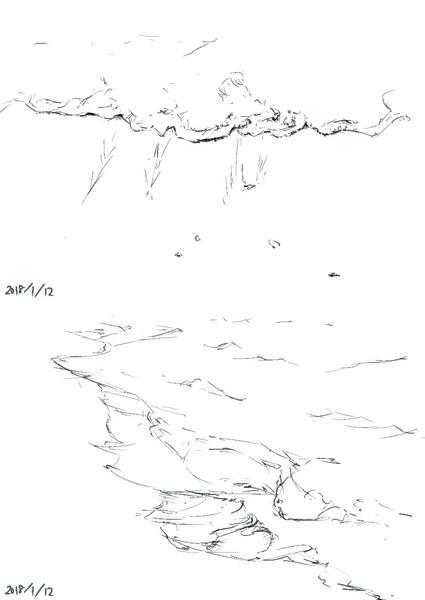 5分で波打ち際2 Case さんのイラスト ニコニコ静画 イラスト