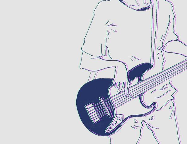 ベーシスト 面黒い さんのイラスト ニコニコ静画 イラスト