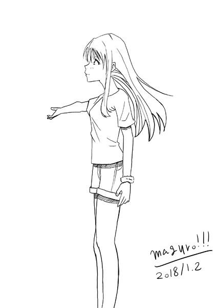 横を見る女 Maguro さんのイラスト ニコニコ静画 イラスト