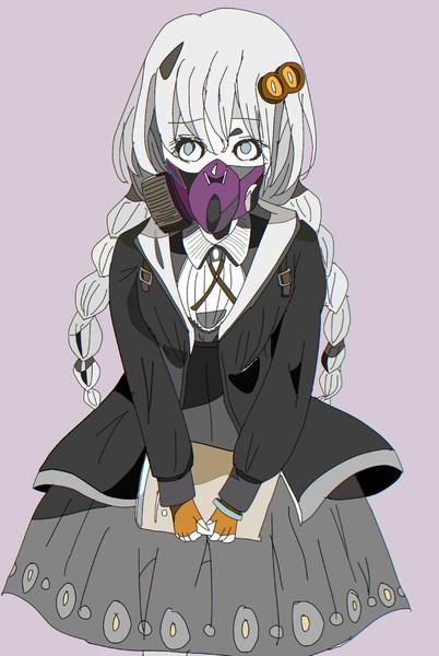 あかりちゃんもガスマスク