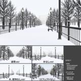 冬の公園ステージ