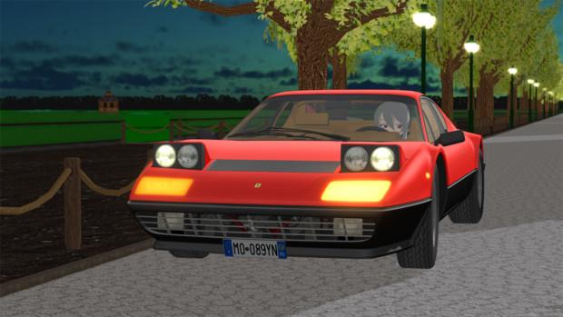 【MMD】フェラーリ 512BB【モデル配布】