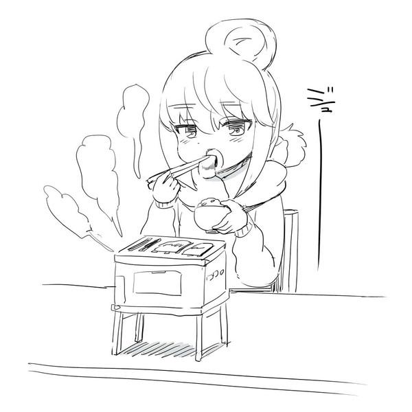 学校で焼肉するリンちゃん
